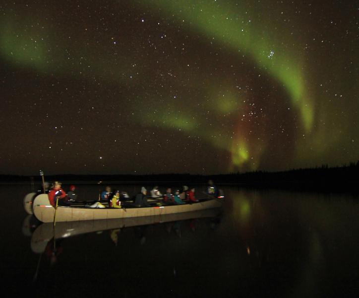 Voyageur Canoe Aurora