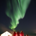 Aurora over Wall tent